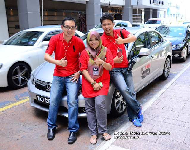 My cool team consisting of Azfar, Yana and myself all ready to take on the challenge
