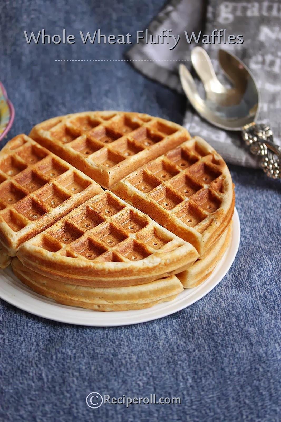 Whole Wheat Waffles | Waffles With Whole Wheat Flour ~ Sankeerthanam ...