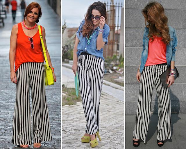 Look con pantalones bicolor
