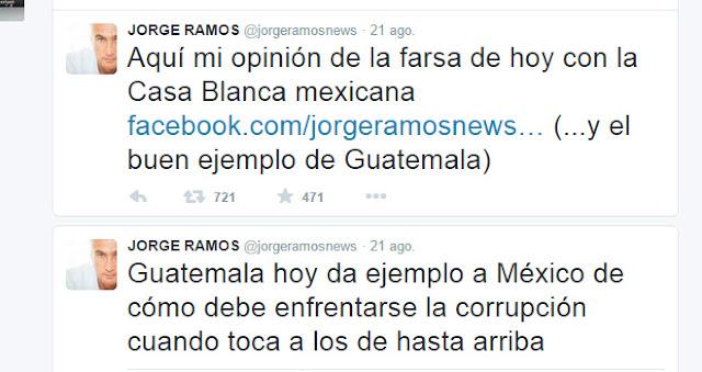 """La investigación de Andrade es un cuento, """"absolvió a su jefe"""": Jorge Ramos"""