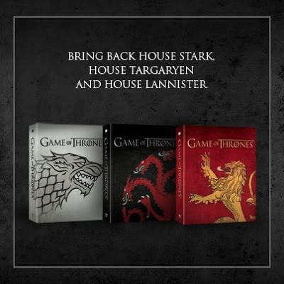 portadas dvd stark targaryen lannister - Juego de Tronos en los siete reinos