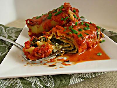 Veggie Lasagna Roll Ups