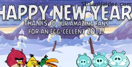 Happy New Year 2012 from the Angry Birds