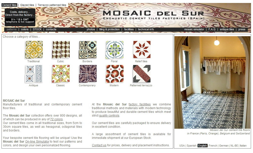Palazzo pizzo the blog cement tiles - Mosaic del sur tiles ...