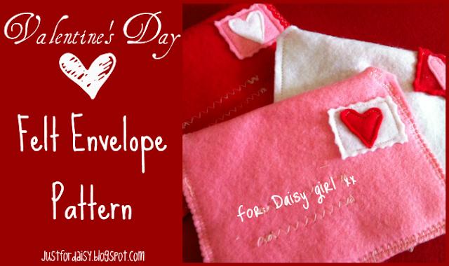 Just For Daisy :: Felt Envelope Pattern free printable