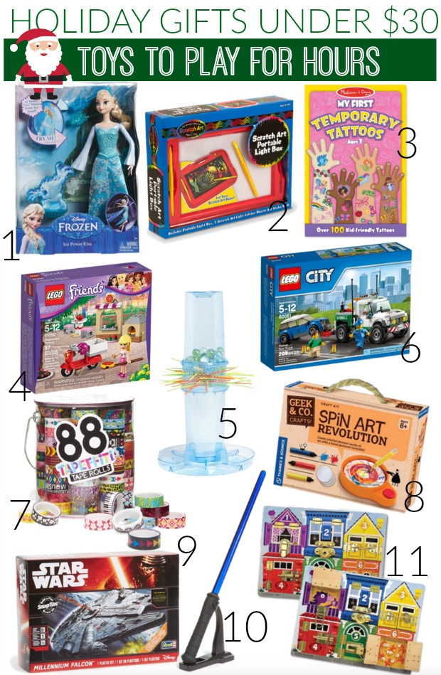 Holiday gifts under $30 that the kids will play with for hours