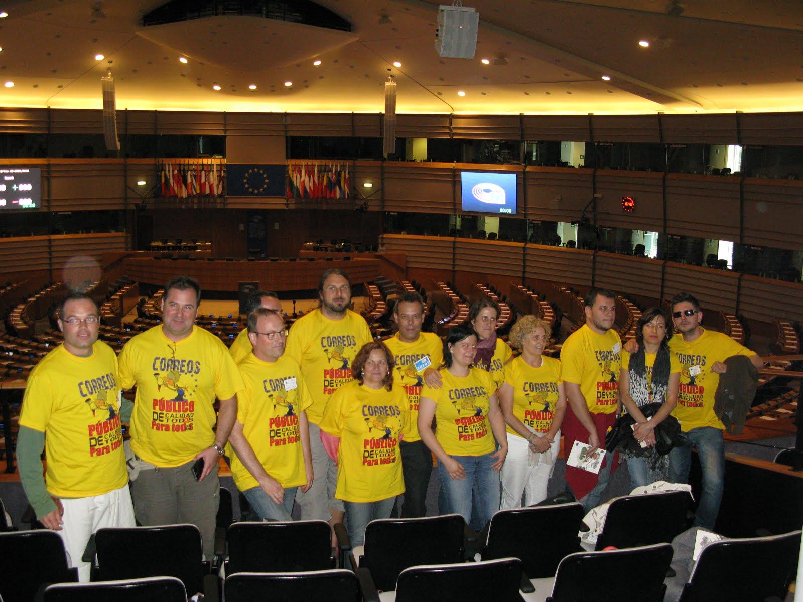 El nostre delegat de Tarragona a Brusseles (el segon per l'esquerra)
