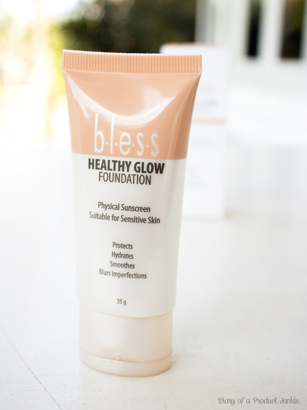 review of bless healthy glow foundation