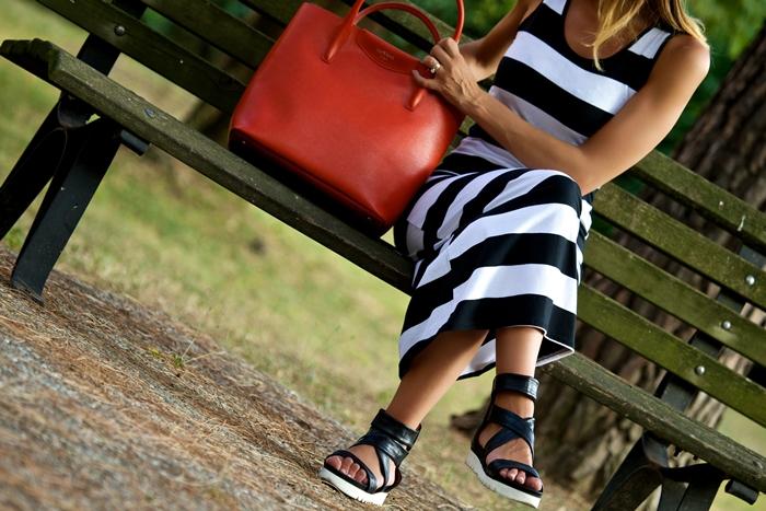 sandali fasce pelle nera