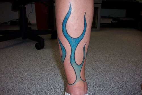 Blue Flame tattoo