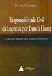 Livros - Responsabilidade civil da imprensa por dano à honra.