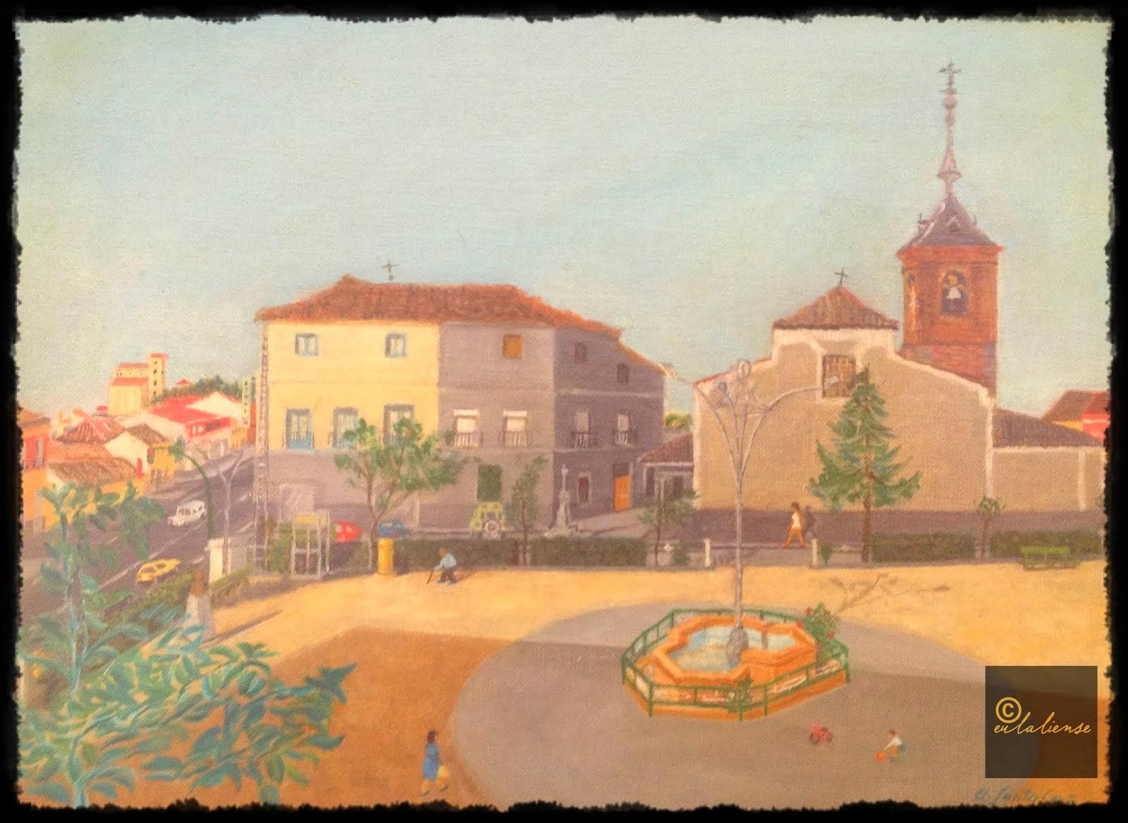 | Pintura de la Plaza Reyes de España |