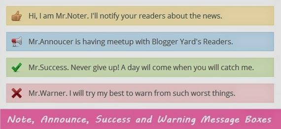 Tạo chú thích, thông báo, box cho blog