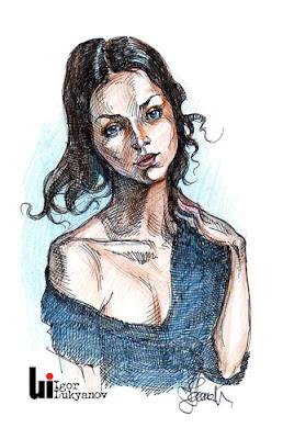 mujer hermosa (retrato)