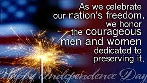 Thanks be to God for those who helped give us this FREEDOM we enjoy.