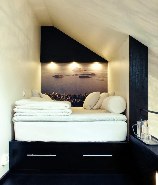 Boiserie c 55 trucchi per arredare mini camere da letto - Letto per monolocale ...