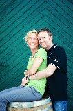 Helga und Peter J. König im Gespräch mit Michael Wolf, Weingut Wolf