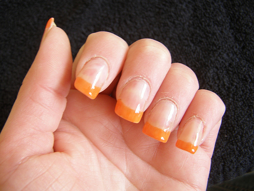 nail art orange design ideas
