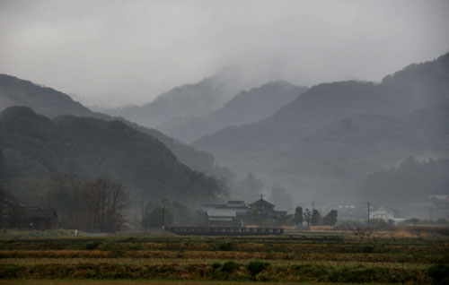 Kunisaki Peninsula in the rain