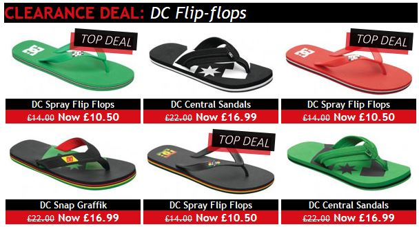 Cheap DC sandals