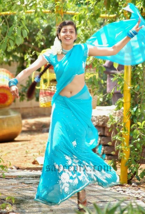 Kajal-agarwal-half-saree-dance-Chandamama-movie-