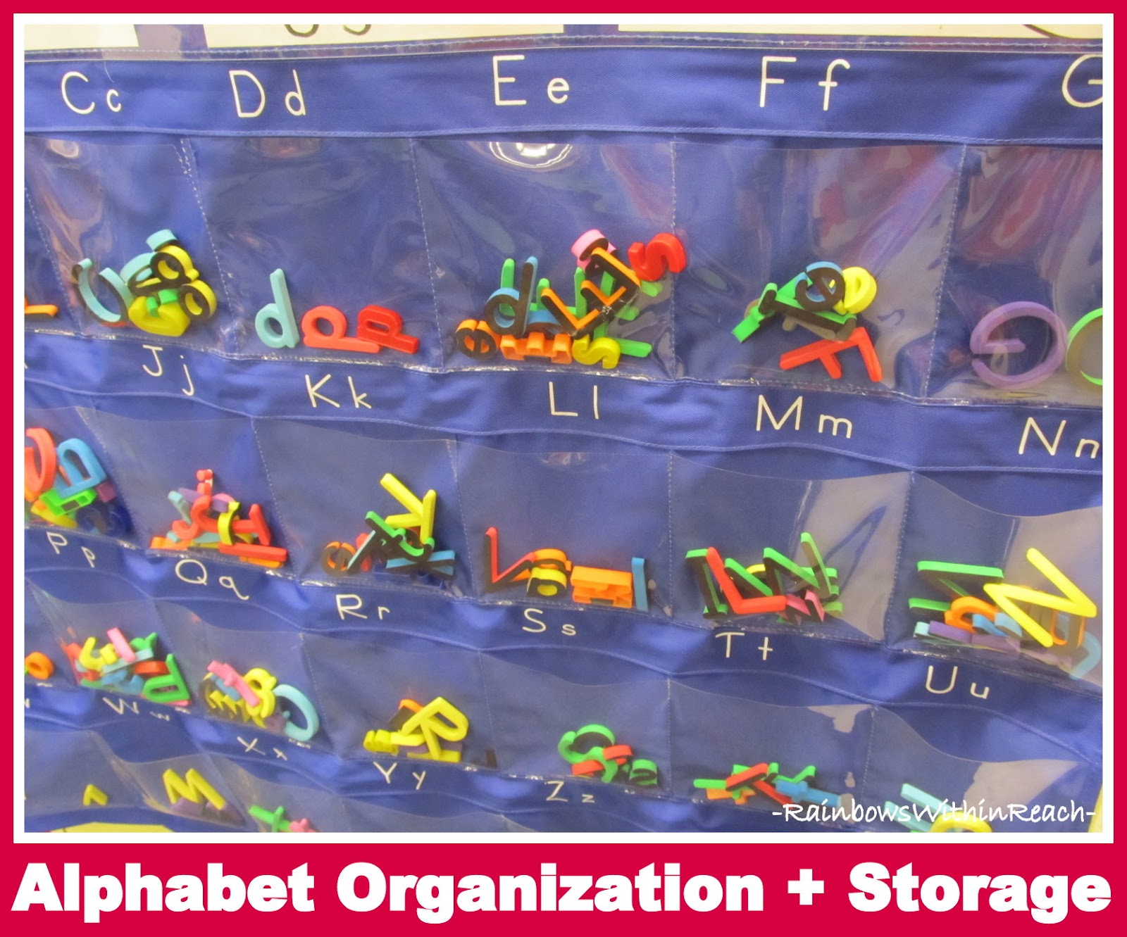 Photo Of: Alphabet Organization + Storage (Organizational RoundUP Via  RainbowsWIthinReach)