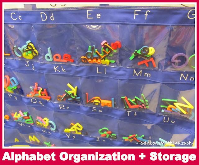 photo of: Alphabet Organization + Storage (Organizational RoundUP via RainbowsWIthinReach)