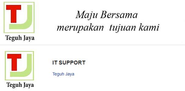 Lowongan Kerja Terbaru IT Support Teguh Jaya Batam Bulan November 2015