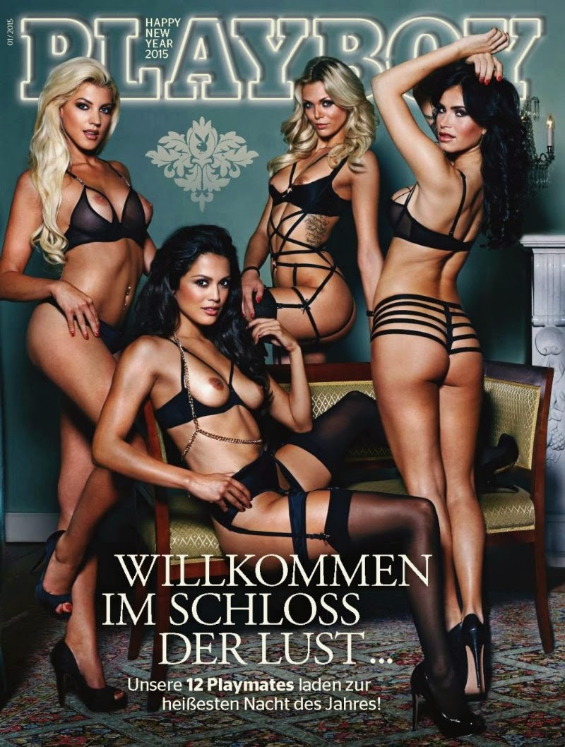 Playmates of Year in Playboy Germany January 2015