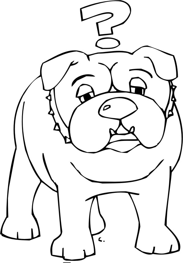 Free Coloring Pages Of Bulldog Dibujo