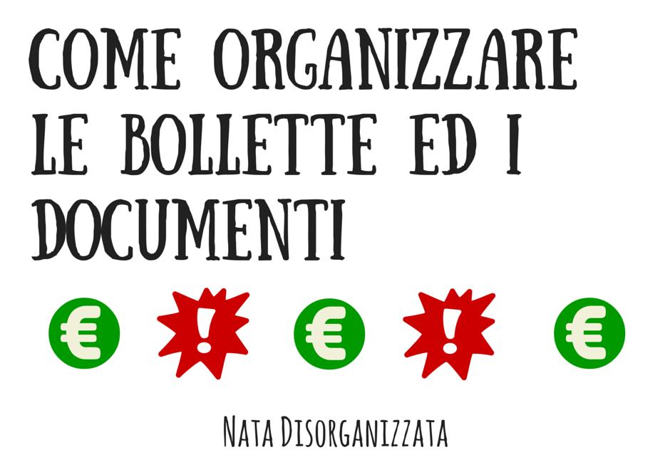 organizzare la burocrazia