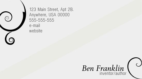Elegance' Business Card PSD