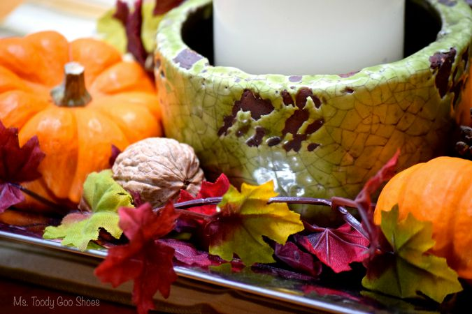Make this DIY Fall Centerpiece in just 5 minutes! | Ms Toody Goo Shoes