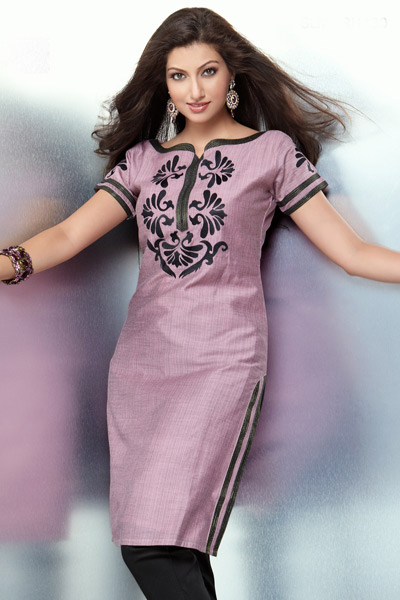 Fabric Painting Floral Designs Fabric Floral Design on Salwar