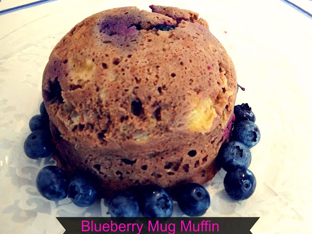 Blueberry muffin and fresh blueberries