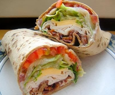 Turkey Bacon Ranch Club Wrap Recipe