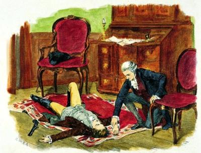 Illustration til Den unge Werthers Lidelser af Johann Wolfgang von Goethe