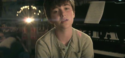 "Greyson Chance in the ""Unfriend You"" music video"