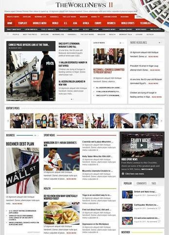 The World News Ii V212 Gavick Joomla 25 Template Retail Island Gfx