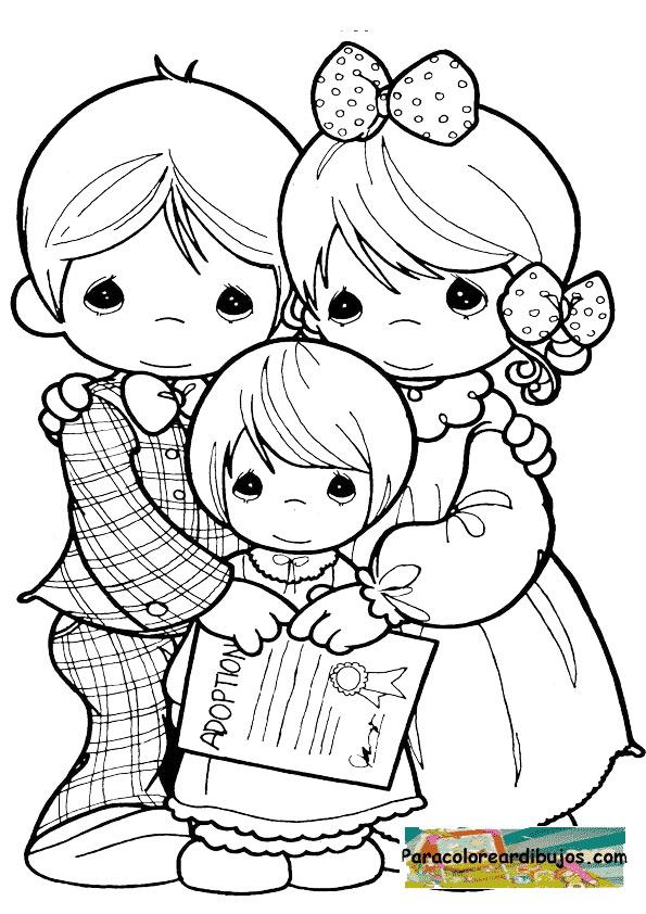 Dibujo de adopcion para colorear
