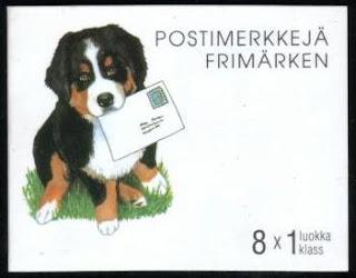 1998年フィンランド共和国 バーニーズ・マウンテン・ドッグ プーミー ボクサーなど8犬種の切手帳の表紙