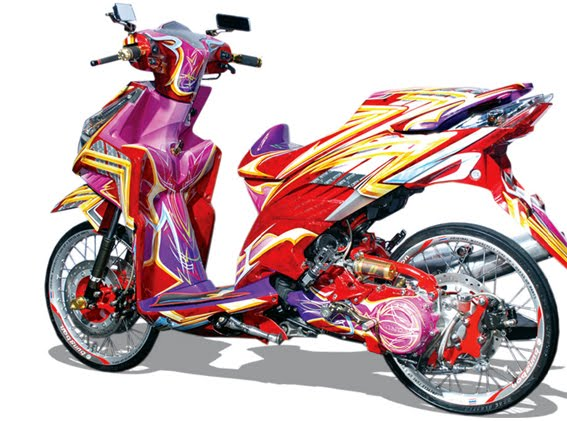 modifikasi honda vario airbrush