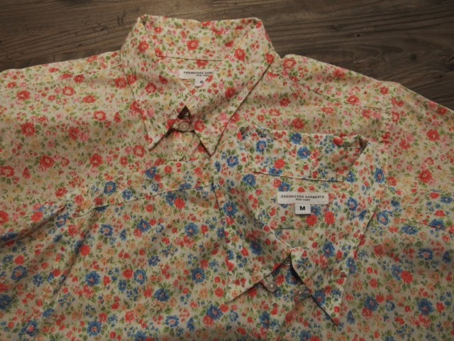 Engineered Garments Tab Collar Shirt Printed Floral