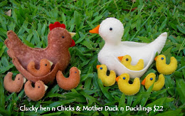 clucky Hen and chicks, Mother duck and ducklings  Kit  $22 plus postage