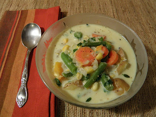 Bowl of Veggie Chowder