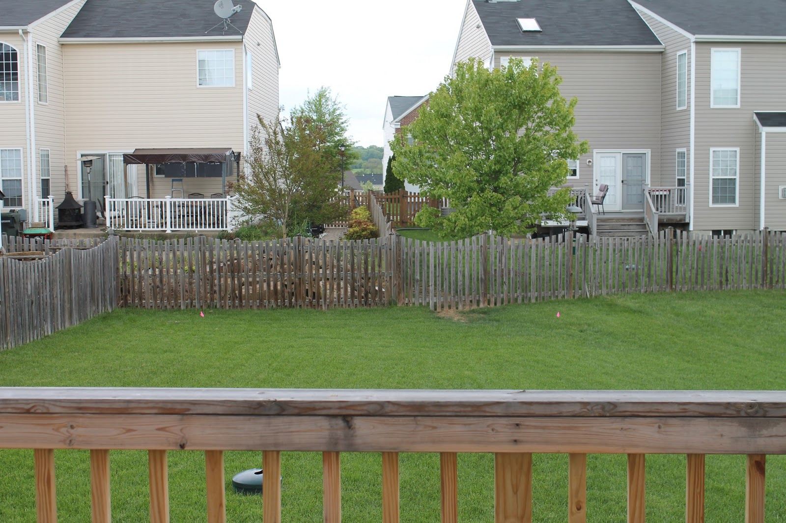 Landscaping Around Tall Deck : Not that i don t love my neighbors because do just feel no