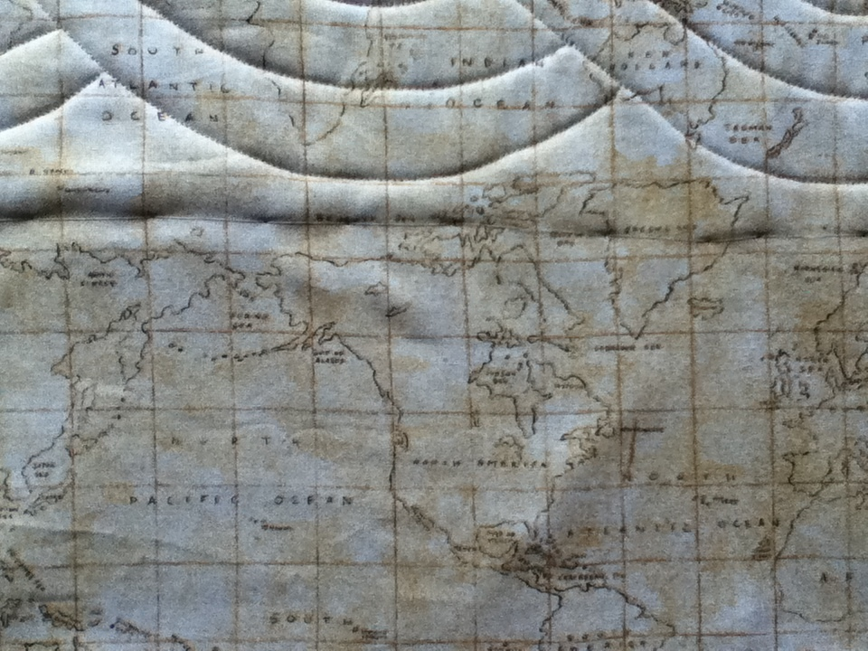 Quiltmekiwi august 2015 the part of this quilt i am most excited to share with you is the most perfect backing fabric an old world type maps new zealand is there gumiabroncs Gallery