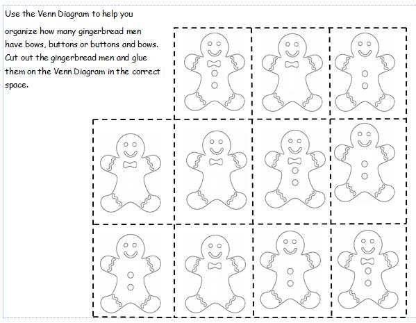 Gingerbread Venn Diagram Freebie