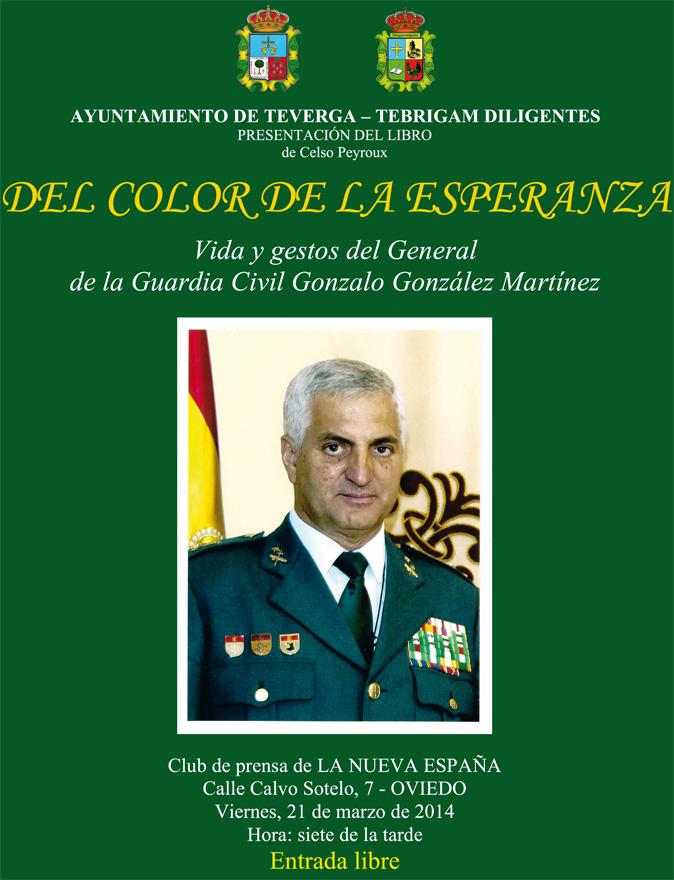 Cartel presentación libro Del Color de la Esperanza