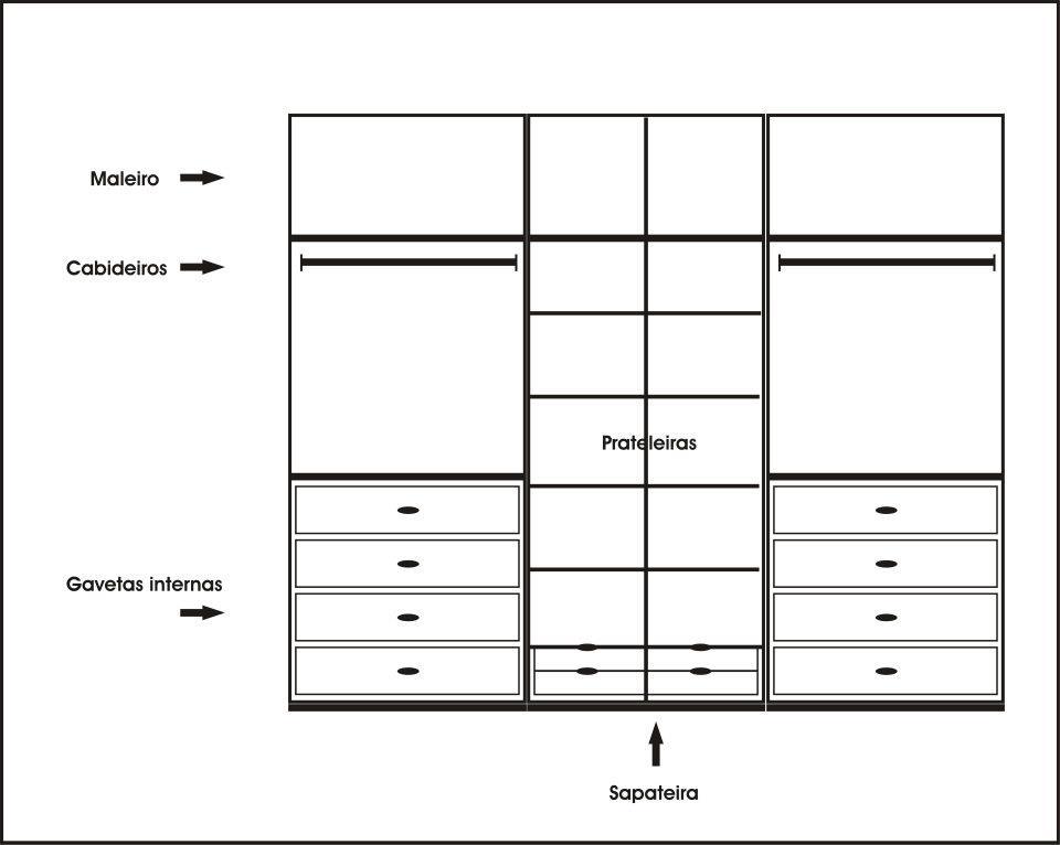 Planejados sob medida for Altura de armario